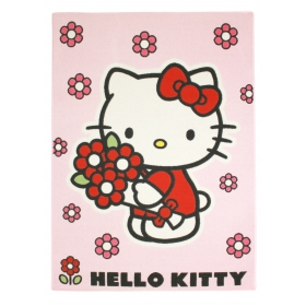 Hello Kitty – Red flowers carpet