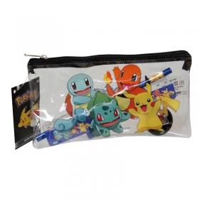 Pokemon Pencil case with school supplies