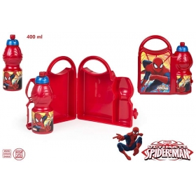 Spiderman lunch box + bottle set