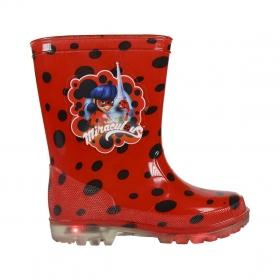 Miraculous Ladybug rain boots with LED lights