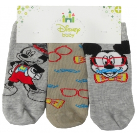 Mickey Mouse baby socks 3 pack - 62-74 cm
