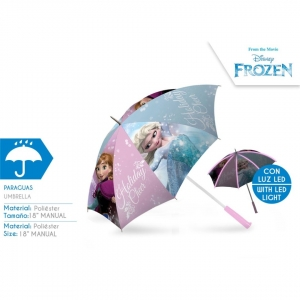 Frozen manual umbrella with LED lights