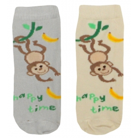 Monkey baby socks
