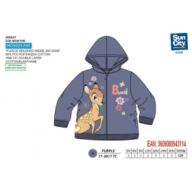 Bambi zip up baby sweatshirt hoodie