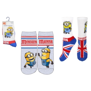 Minions boys socks