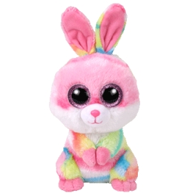Beanie Boos Lollipop - multicolor rabbit plush toy 15 cm