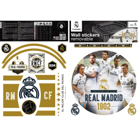 Real Madrid wall sticker graphic players 2 sheets