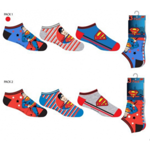 Superman shorts socks 3 pack