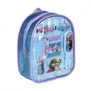 Frozen backpack with hair accessories