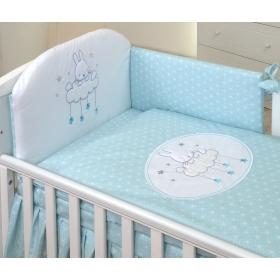 Baby bedding set 5 elements Sky Bunny