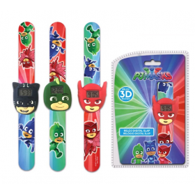 PJ Masks silicon writs watch in slap band