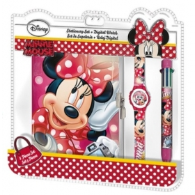 Minnie Mouse secret diary set and wristwatch