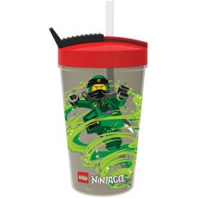 Lego Ninjago bottle with straw