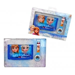 Frozen wrist watch and wallet gift set