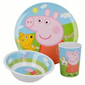 Melamine Set W/O Rim Peppa Pig