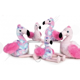 Flamingo 23 cm 2 asst plush
