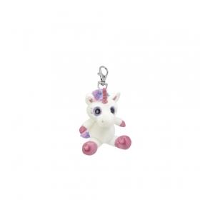 Unicorn plush keyring 10 cm