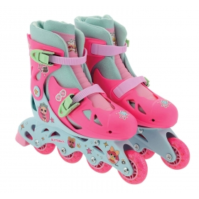 LOL Surpise In-line Skates with sticker sheet - with glitter wheels and socks