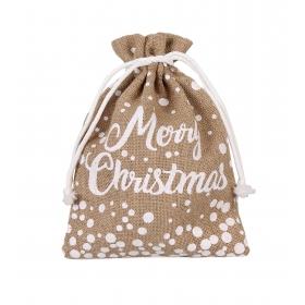 """Tin Tours Christmas jute bag """"merry christmas"""" 30x22 cm"""