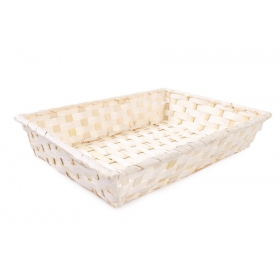 Tin Tours Rectangular bamboo basket 32x24x7h cm
