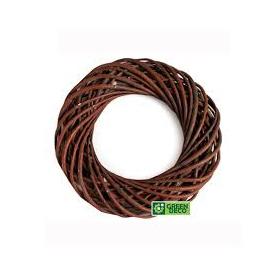 Brown wicker wreath 30 cm