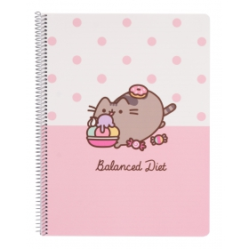 Pusheen Notebook a4 polypropylene cover microperforated  rose collection