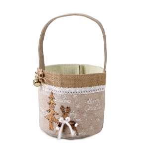 Christmas felt basket 15x15x15 / 30 cm
