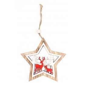 Christmas star pendant 10x9.5 / 18 cm