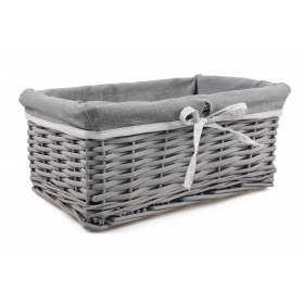 Gray wicker drawer with 33x22x14 cm material