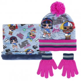 LOL Surprise Set of winter hat, snood and gloves Cerda