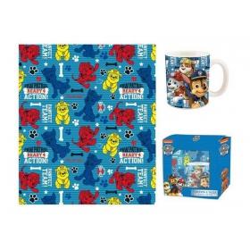 Paw Patrol blanket + mug gift set