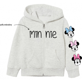 Minnie Mouse zip up hoodie